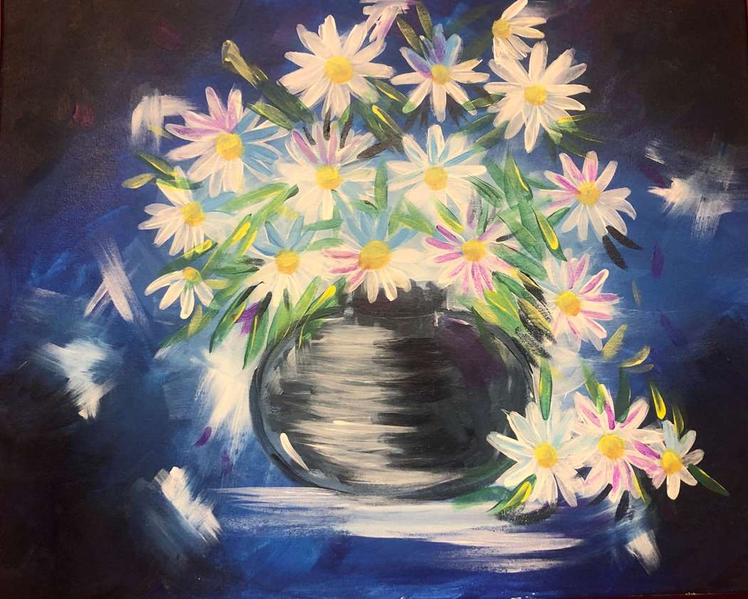 Daisies in Blue - In Studio Event - Limited Seating Available