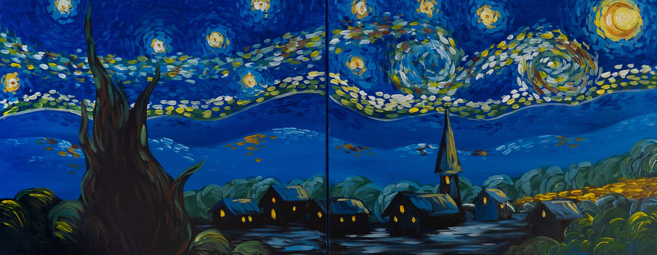 starry night painting essay Overview of vincent van gogh art essay print some of his most famous pieces are the starry night the viewer can tell the painting is a night scene.