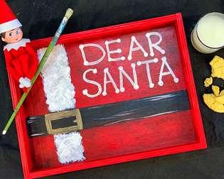 Dear Santa Cookie Tray