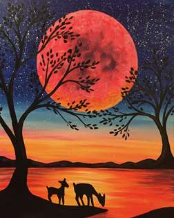 Deer in the Moonlight