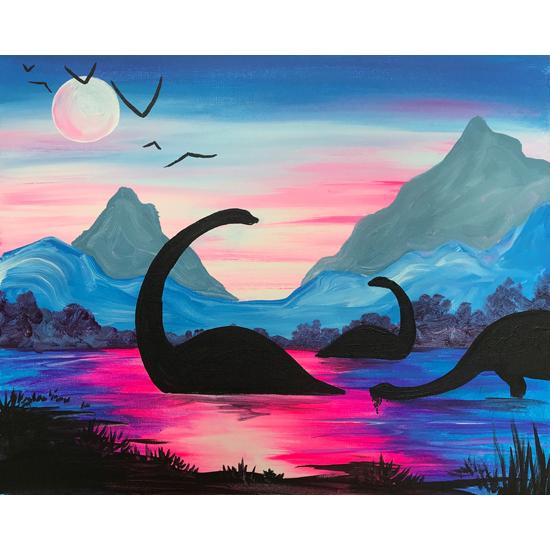 Black Light Night!  Dinosaurs at Dusk