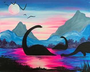 Dinosaurs at Dusk