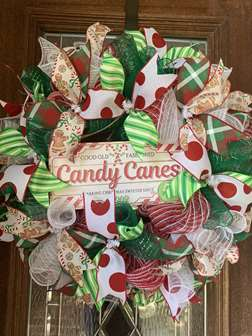 DIY - Candy Canes Wreath Making Class