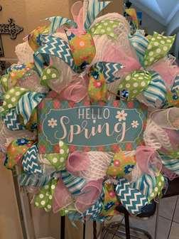 DIY - Hello Spring Blue Wreath Making class