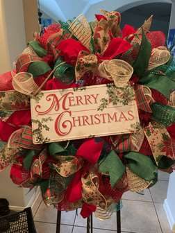 DIY - Merry Christmas Wreath Making Class