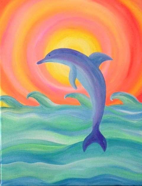 Dolphin at Sunrise