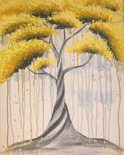 Drip Drop Yellow Tree