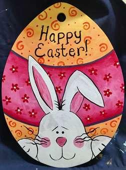 Easter Bunny:  Wooden Egg