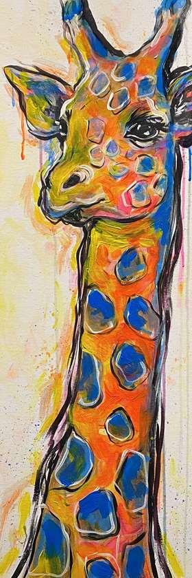 Giraffe Stencil Included!