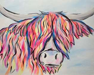 Eclectic Highland Cow