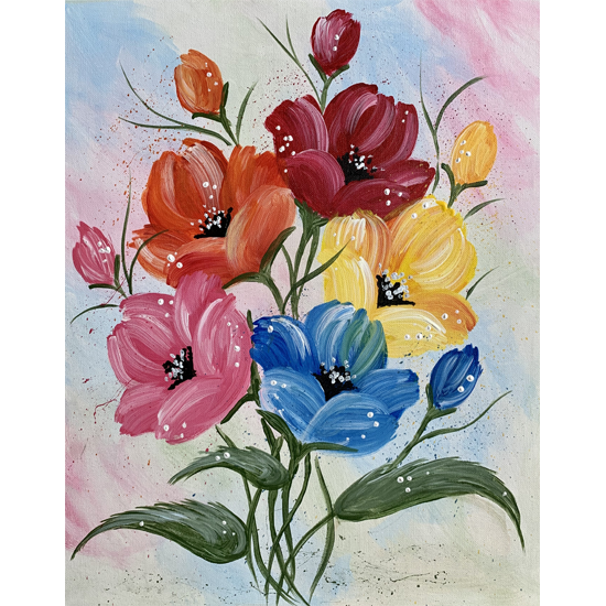 Eclectic Poppies - In Studio - Limited Seating