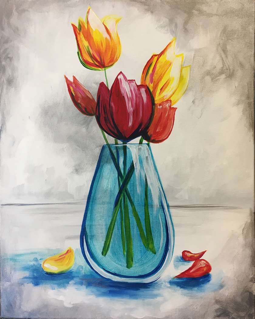 ELEGANT TULIPS - CHOOSE YOUR SURFACE AND SIZE