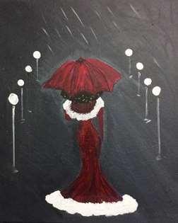 Elegant Walk In The Rain