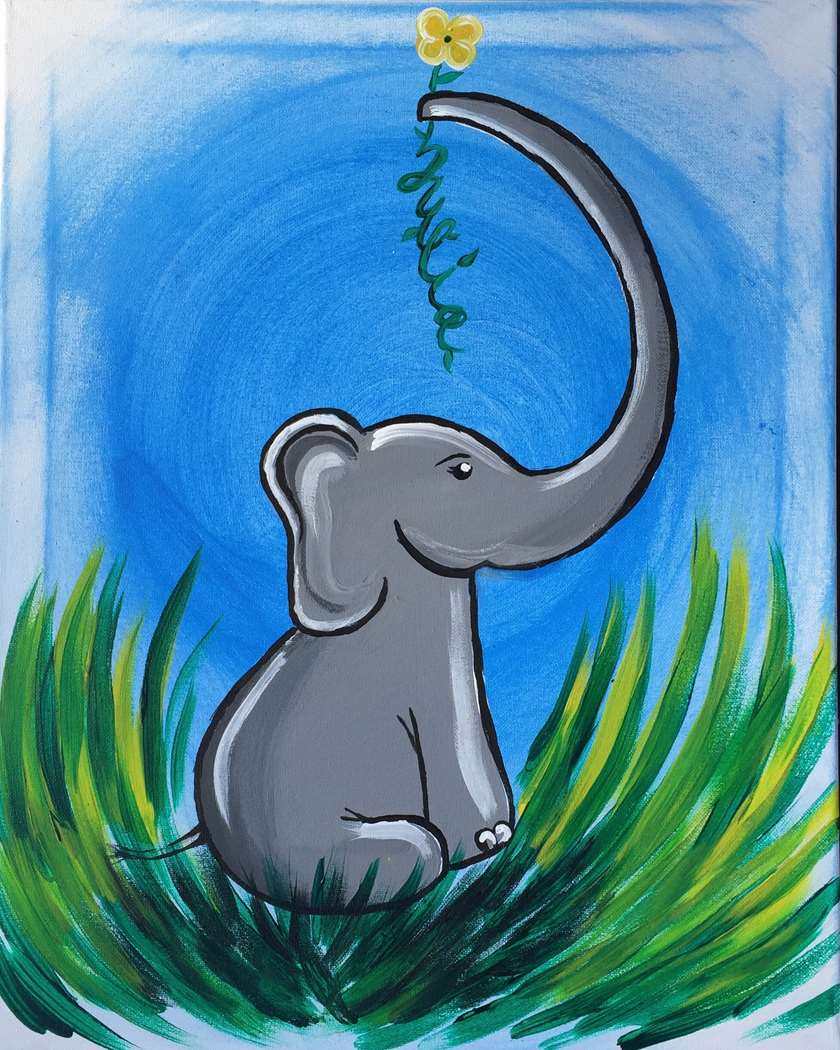 Ellie the Elephant (with Customized Name)