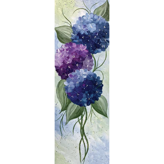 10 x 30 Canvas!  Enchanted Blossoms