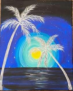 Evening Palm Trees