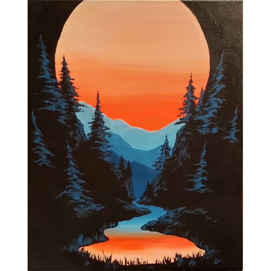 Eventide - black light painting