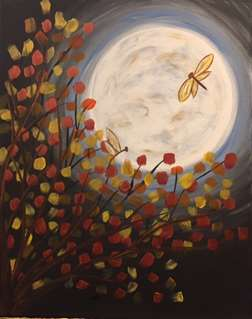 Fall Moon Dragonflies