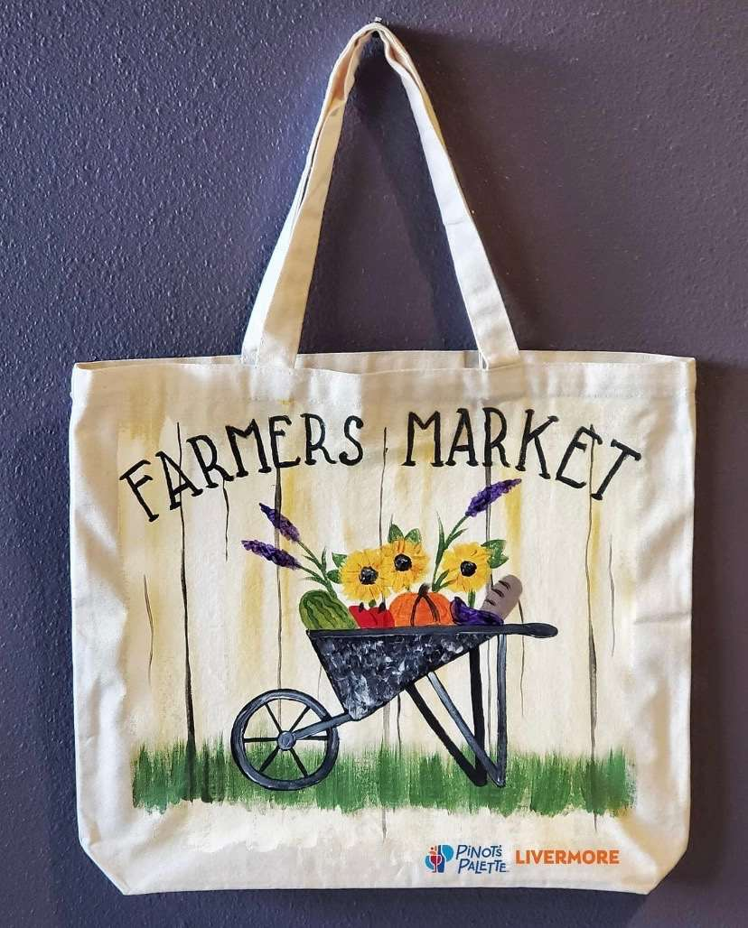 IN-STUDIO EVENT --  LIMITED SEATING FARMERS MARKET TOTE BAG