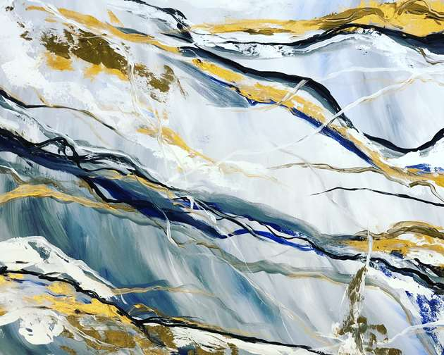 Faux Marble Abstract