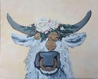 Festive Shaggy Cow