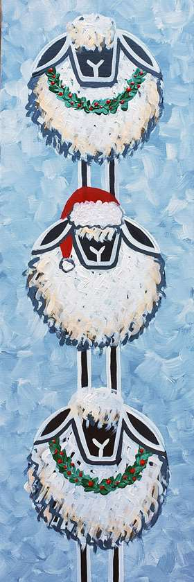 Festive Sheep Stack