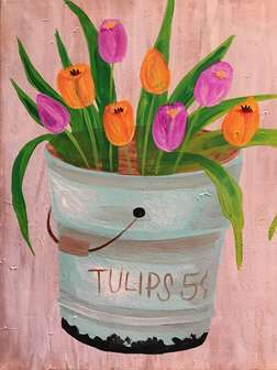 Festive Spring Tulips