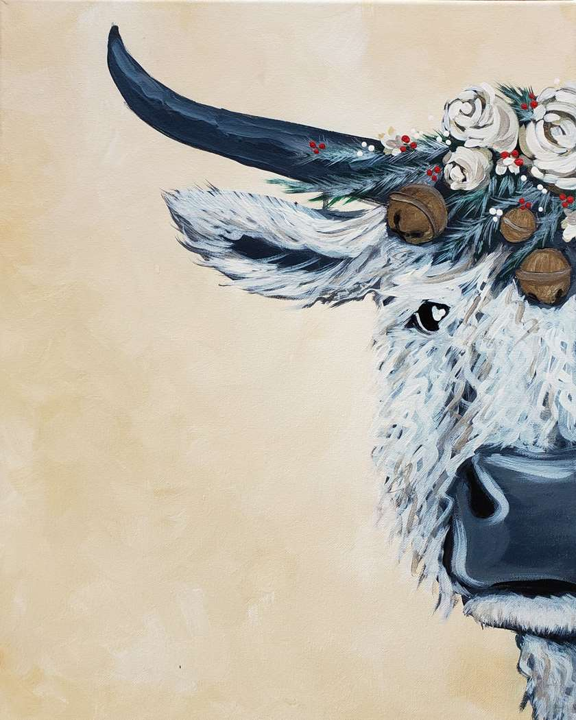 Festive Winter Cow - In Studio Event - Limited Seating Available