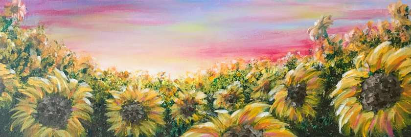 """""""Field of Flowers"""" large 10 x 30!"""