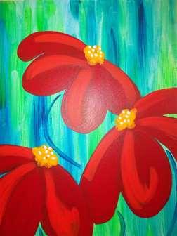 Fiery Wildflowers