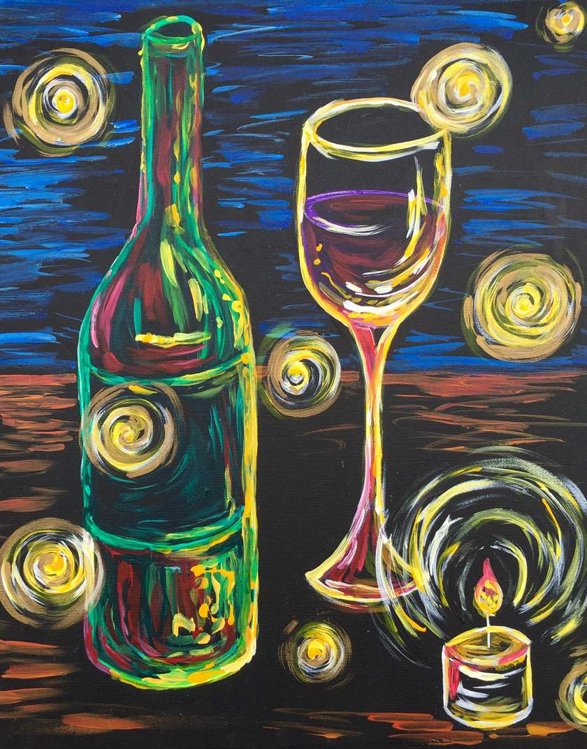 Painting parties classes in red bank paint sip events for Paint vino