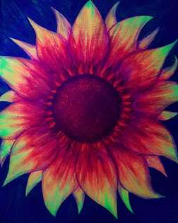 Firecracker Sunflower (under Blacklight)