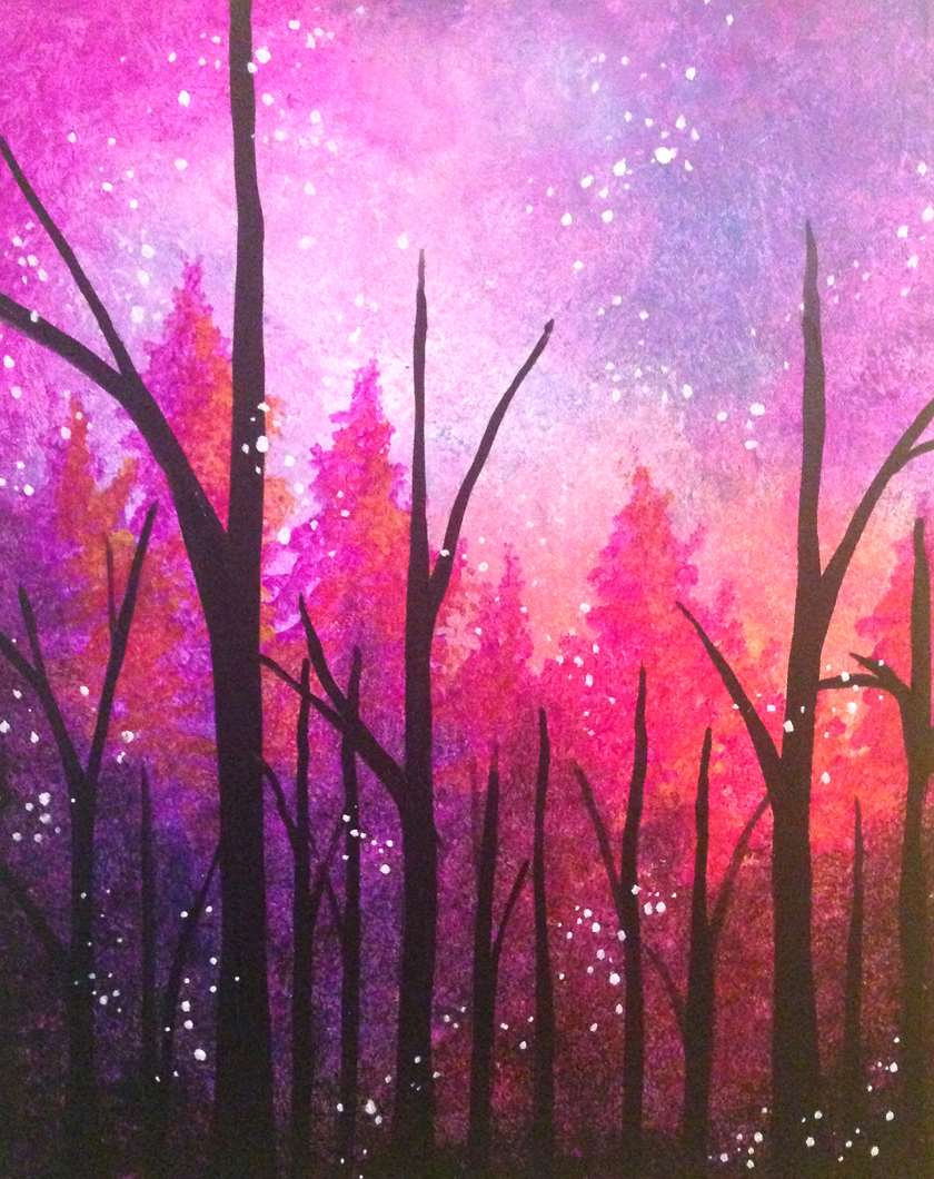 Firefly Forest - Black Light Painting!