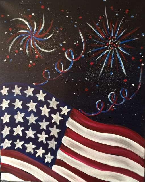Fireworks Over the Flag