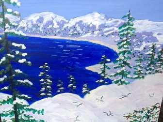 First Snow Lake Tahoe