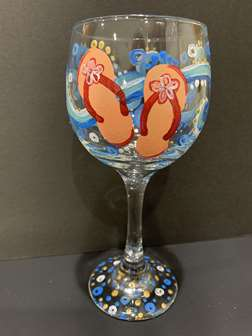Flip Flop wine glass
