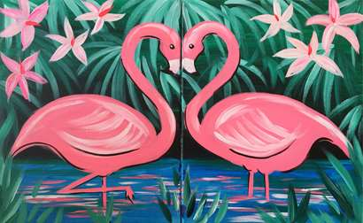 Flirty Flamingos