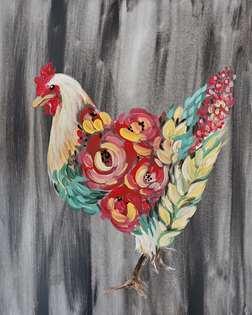 Floral Chicken