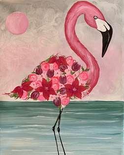 Floral Flamingo