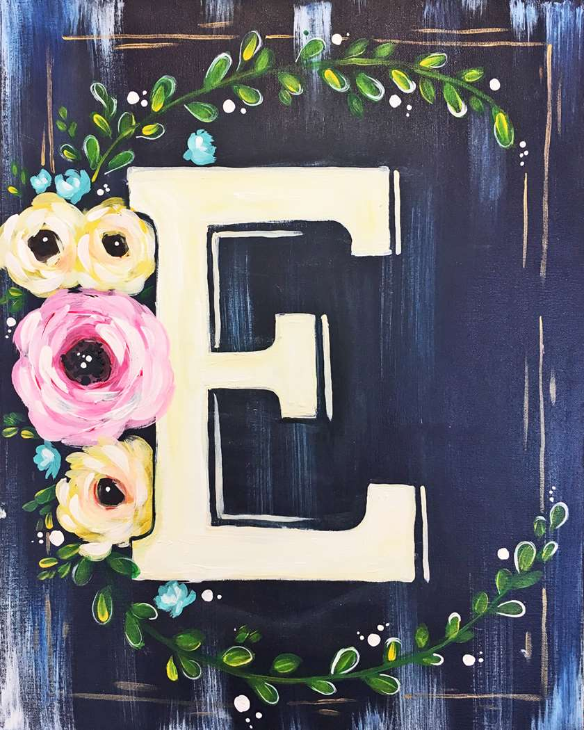Floral Monogram - In Studio Event - Limited Seating Available