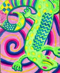 Fluorescent Gecko