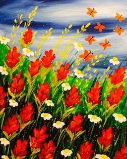 Flutter Through Paintbrushes