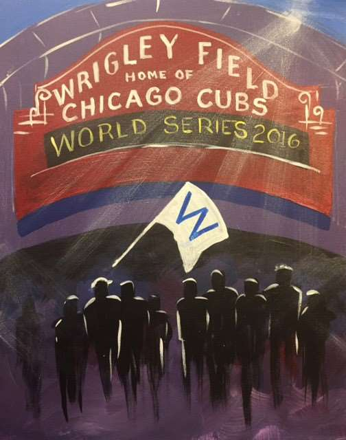 In-studio class!  GO CUBS GO!!!! We'll be at Wrigley in spirit~