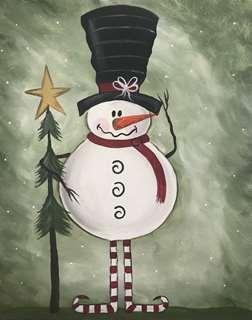 Folk Art Snowman
