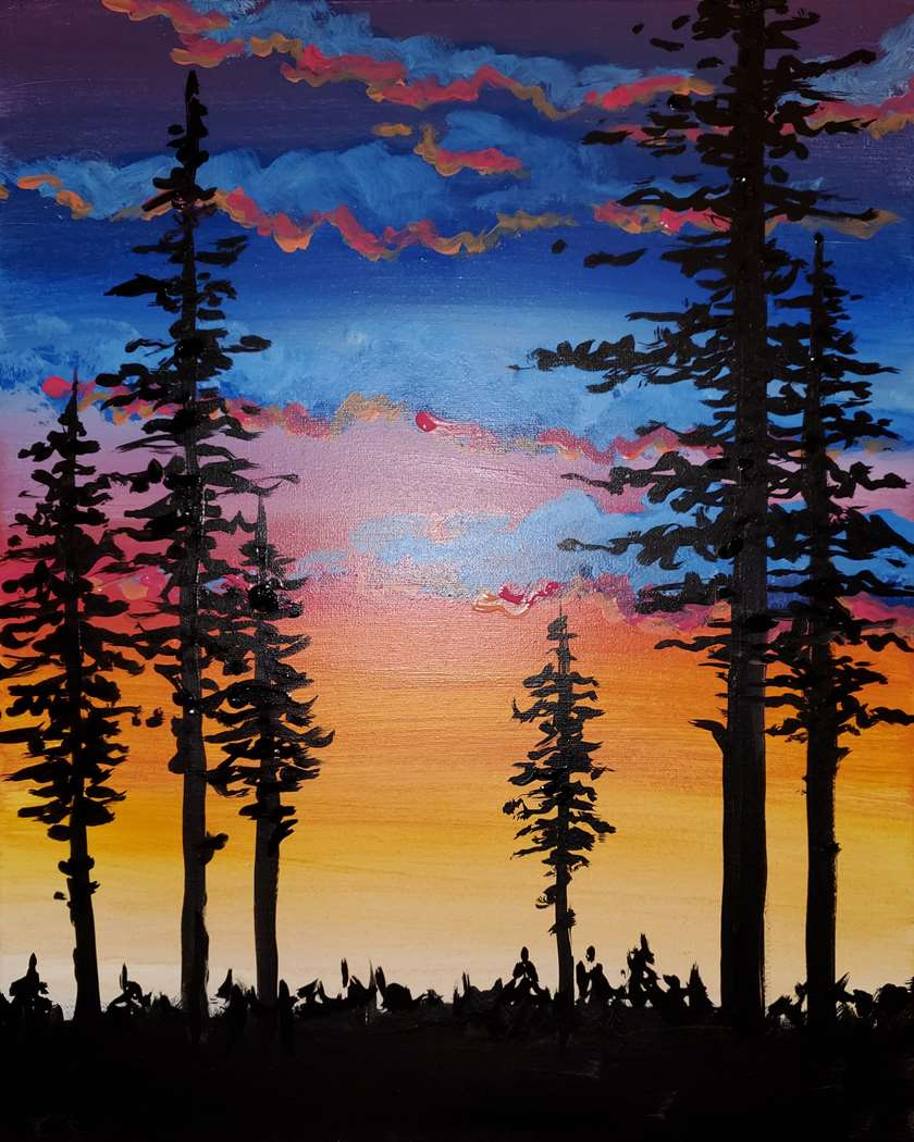 Forest at Sunset