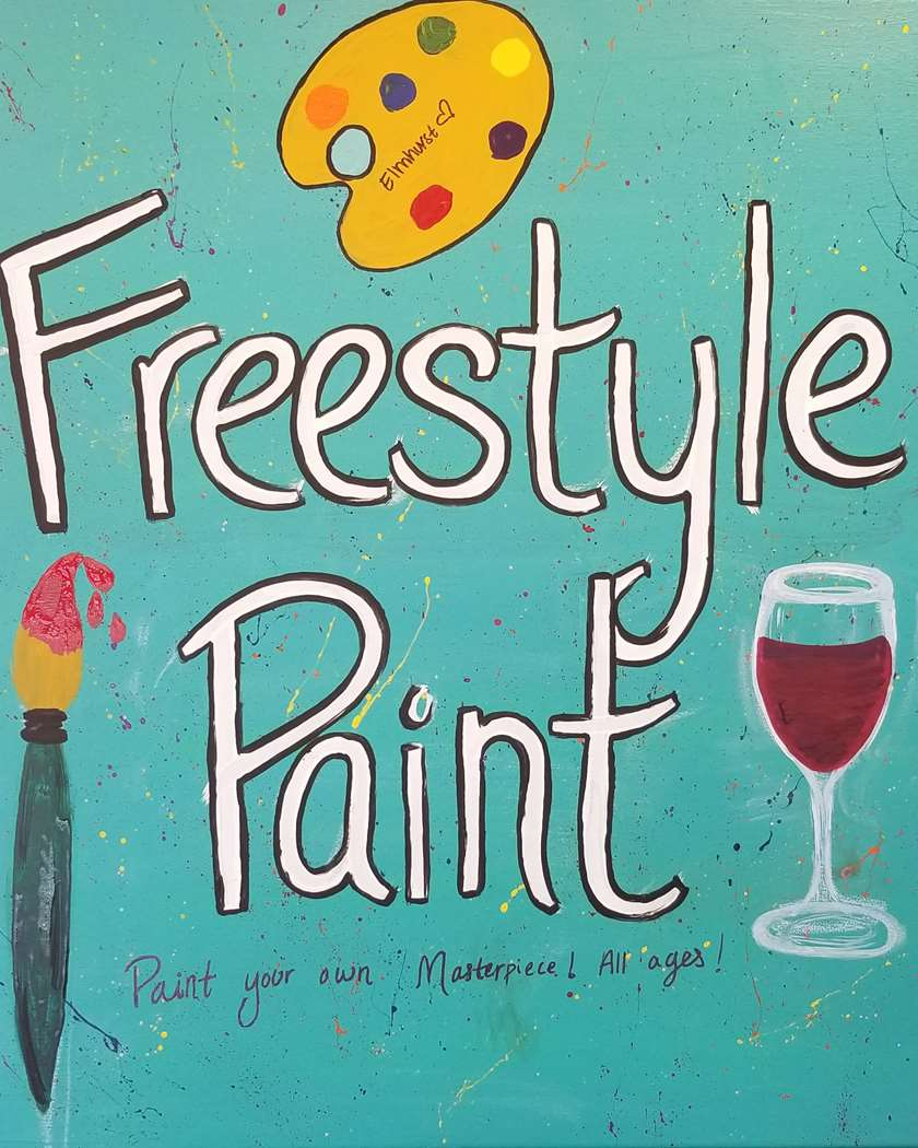 Freestyle Paint! In-Studio Event! Limited Seating for Social Distancing!
