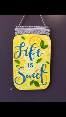 Fresh Squeezed Mason Jar Door Hanger