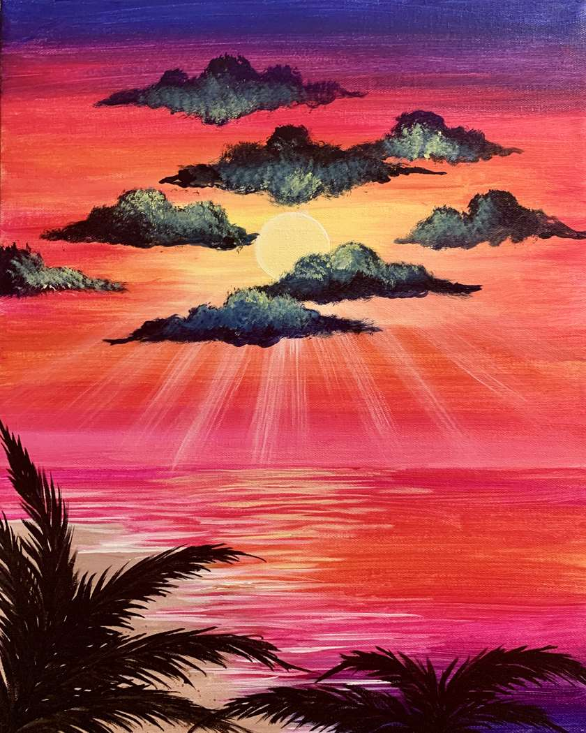 In Studio Event - Fuchsia Sunset