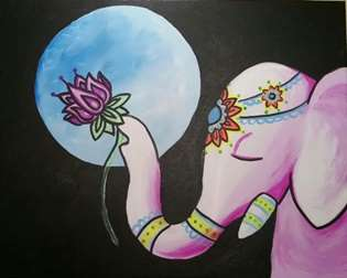 Ganesha's Midnight Lotus
