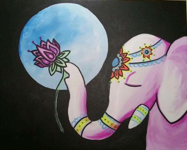 Ganesha's Midnight Lotus